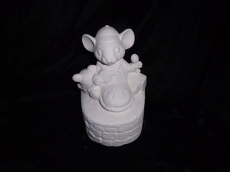 Little Jack Horner Mouse ready to paint bisque