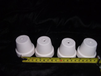 Set of 4 mini flower pots ceramic bisque ready to paint