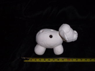 "Cow pencil holder 4x3""  ready to paint bisque ready to ship"