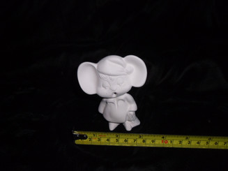 Sleepy time mouse appx 4x3  ready to paint bisque ready to ship