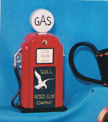 Nostalgic Gull gas pump bisque ready to paint