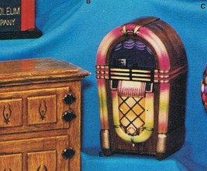 Nostalgic juke box ceramic bisque ready to paint