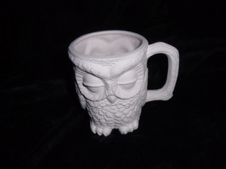Owl ceramic bisque ready to paint ready to ship