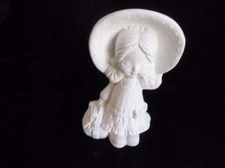 "Little Girl with Big Hat, 8"" Tall"