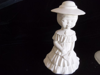 "Little Girl Southern Belle, 5"" High"