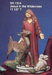 "Jesus in the Wilderness, 11.5"" Tall - Doc Holliday 1314"