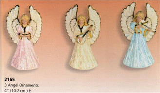 3 Angel Ornaments 4""