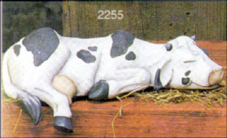"Sleeping Shelf Cow 9""L"