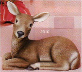"Lying Deer Looking Left 9""L"