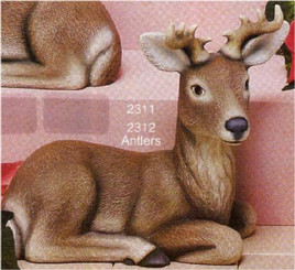 "Lying Deer Looking Right 9""L"