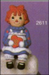 "Sitting Rag Doll Girl 6""High - SCIOTO 2611"