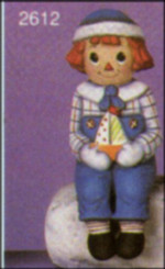 "Sitting Rag Doll Boy,  6""T - SCIOTO 2612"