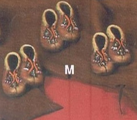 Moccasin ornaments set of 3