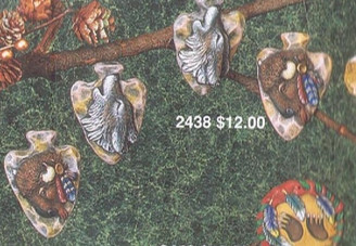 kimple 2438 4 arrowhead ornaments ready to paint