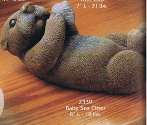 "Gare 2339 baby sea otter 8"" l  ceramic bisque ready to paint"