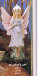 "Gare 2894 blueberry fairy 10"" high   ceramic  bisque ready to paint"