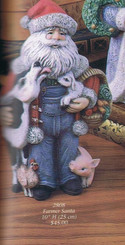 "Gare 2808 farmer Santa 10""h  ceramic  bisque ready to paint"