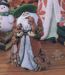 "Gare 2810 puppy Santa 10""h  ceramic  bisque ready to paint"