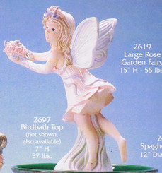 "Gare 2619 large rose garden fairy 15""  ceramic  bisque ready to paint"
