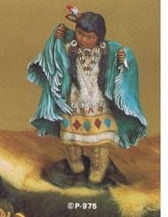 Provincial 975 Dancing Indian Girl Ready to Paint Ceramic Bisque