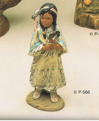 Provincial  566 Indian Girl  ceramic bisque ready to paint