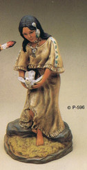 Morning Dove Indian Maiden Ready to Paint P-830