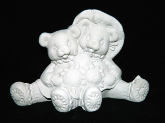 Sunflower Cuddle Bears Ready To Paint Clay Magic J1363