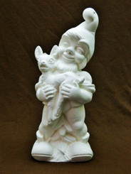 Gnome Elf Holding Deer Fawn Doc Holliday Mold DH238 IN STOCK