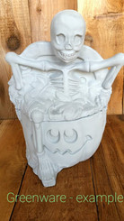 Skeleton Jack O'Lantern Cookie / Candy Jar