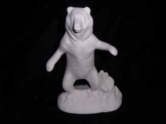 "Fighting Bear 8"" tall ready to paint"