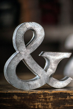 Metal Zinc Ampersand