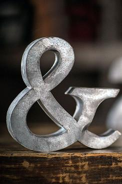 Metal Zinc Ampersand