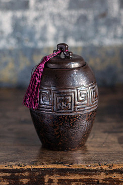 Ancientry Pot with Purple Tassle