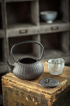 Cast Iron Brown Teapot III
