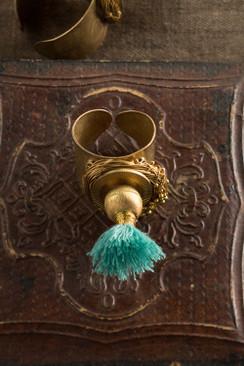 Turquoise Tassel Ring