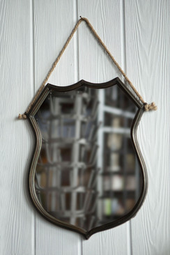Iron Shield Frame Mirror