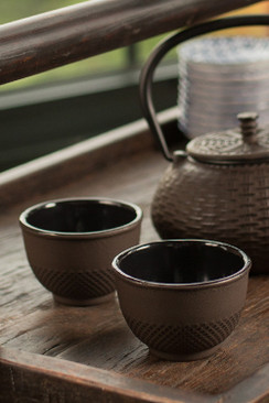 Cast Iron Brown Cup