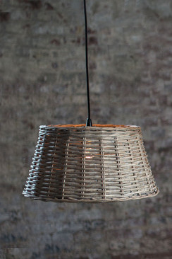 Handwoven Round Pendant Shade - Small