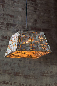 Handwoven Square Pendant Shade - Small