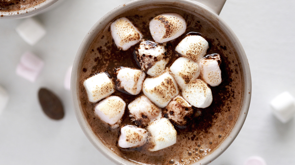 Our 1 gluten free hot chocolate and gluten free marshmallow