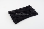 "7.6 x 12"" Black Nylon Tie-Wraps by Industrial Webbing Corp 50lbs. tensile strength 100 ct bag"