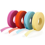 VELCRO® Brand ONE-WRAP® Tape for Fiber Optic Cable Group rolls image, Orange, Aqua, Violet & Yellow