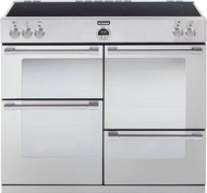 Stoves Sterling 1000Ei Electric Induction Range Cooker - Stainless Steel - GRADED.