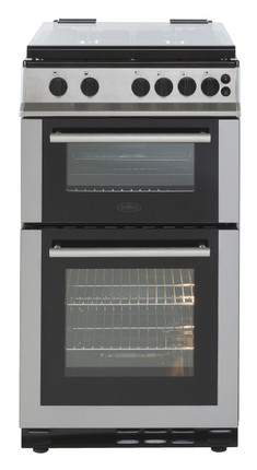 Belling FS50GTCL Gas Cooker with Full Width Gas Grill - Stainless ...