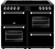 Belling Kensington 100E Electric Ceramic Range Cooker - Black & Chrome - GRADED.