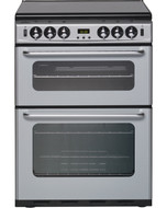 New World NH 600TSIDOM 60cm Double Oven Gas Cooker - Silver - GRADED