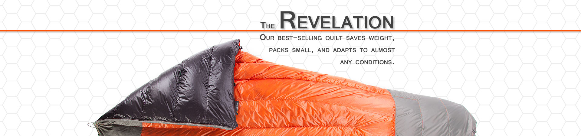Ultralight, packable, and warm. The Revelation quilt from Enlightened Equipment