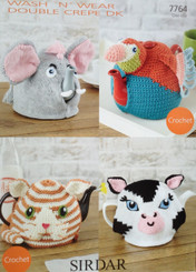 Sirdar knitted & crochet tea cosy pattern 7764