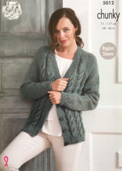 King Cole ladies chunky knitting pattern 5012
