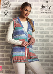 King Cole Ladies Chunky knitting pattern 4850